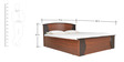 Regent King Bed with New Hydraulic Storage in Burma Teak & Wenge Colour by Crystal Furnitech