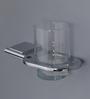 Regis Silver Glass Bathroom Toothbrush Tumbler