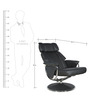 Relaxing Chair in Black Colour by Parin