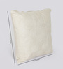 Reme White Cotton 16 x 16 Inch Embroidered Cushion Cover - Set of 2