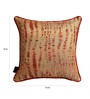 S9Home by Seasons Gold & Red Polyester 16 x 16 Inch Contemporary Cushion Cover with Piping - Set of 2