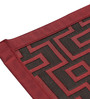 S9home by Seasons Premium 6 Seater Red Polyester Table Placemats with Border - Set of 6