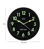 Safal Quartz Black MDF 12 Inch Round Circular Nightglow Wall Clock