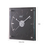 Safal Quartz Black MDF 12 x 2 x 12 Inch See Through Figures Wall Clock