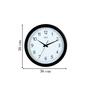 Safal Quartz Black MDF 14 x 14 Inch Simple Wall Clock