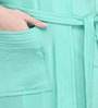 Sand Dune Sea Green Cotton Ladies Bathrobe