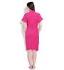 Sand Dune Turquoise & Pink Cotton Ladies Bathrobe - Set of 2