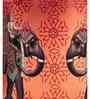 SEJ by Nisha Gupta Orange Silk 16 x 16 Inch Cushion Cover