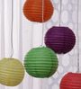 Skycandle Multicolour Globular Paper Lantern - Set of 5