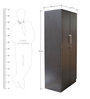 Smart Two Door Wardrobe in Wenge Colour by Crystal Furnitech