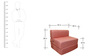 Sofa cum Bed in Orange Colour by RVF
