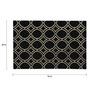 Sofiabrands Black & Cream Woolen 96 x 60 Inch Circular Pattern Carpet