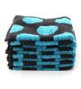 Softweave Blue Cotton 12 x 12 Face Towel - Set of 5