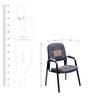 Spine Chair in Black & Brown Colour by Stellar