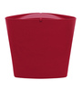 Spirella Swiss Design Red 1 L Triangle Wave Cover Desktop Trash Bin