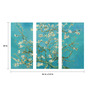 Tallenge Canvas 36 x 0.5 x 24 Inch Almond Blossoms by Vincent Van Gogh Premium Quality Ready to Hang Framed Art Panels - Set of 3