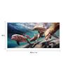 Tallenge Canvas 88 x 1 x 43 Inch Dolphin Family Framed Large Digital Art Print