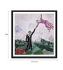 Tallenge Photographic Paper 12 x 1 x 12 Inch Modern Masters Collection The Promenade by Marc Chagall Framed Digital Art Print