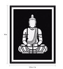 Tallenge Photographic Paper 12 x 1 x 18 Inch Black And White Buddha Art Framed Digital Art Print