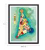 Tallenge Photographic Paper 18 x 1 x 24 Inch Modern Masters Collection Bunt Im Dreieck by Wassily Kandinsky Framed Digital Art Print