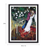 Tallenge Photographic Paper 18 x 1 x 24 Inch Modern Masters Collection Three Candles by Marc Chagall Framed Digital Art Print
