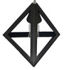 The Black Steel Equilateral Triangle Black Iron 60W Pendant Light