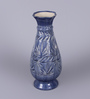 The Decor Mart Blue Ceramic Exclusive Flower Vase