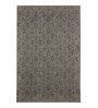 The Rug Republic Grey & Ink Wool Indian Ethnic Carpet