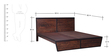 Trenton Queen Bed in Dual Tone Finish by Woodsworth