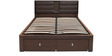 Triumph King Bed with Hydraulic Storage in Dark Brown Colour by @home