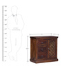 Trydelt Single Door Sideboard in Provincial Teak Finish by Amberville