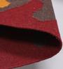 Tulsiram Rugs Multicolour Wool 90 x 63 Inch Nature & Floral Carpet