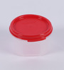 Tupperware Red Plastic Modular Mate Round 200 ml Airtight Container - set of 4