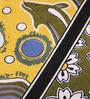 Uttam Black Cotton Nature & Florals 84 x 54 Inch Bedsheet