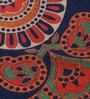 Uttam Mandala Print Blue Cotton Floral 90 x 83 Inch Bedsheet