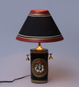 VarEesha Red & Black Fabric Table Lamp
