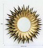 Drums Decorative Mirror in Gold by Bohemiana