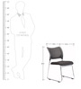 Chair in Black Colour by Parin (Set of 2)