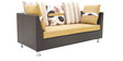 Walton LHS Corner Sofa Set with Two Ottomans in Brown Colour by Furnitech