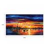 Wall Skin Canvas 24 x 12 Inch Sailing By The Sea Side Framed Digital Art Print