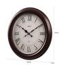 Wertex Brown Glass & MDF 13.5 Inch Round Wall Clock