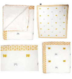 Cocobee White Yellow Butterfly Print Baby Quilt In White Colour