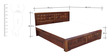 Woodrow King Bed with Storage in Honey Colour by HomeTown