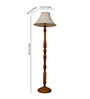 Woody Lamp House Khadi Poly Cotton Floor Lamp