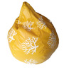 XXL Printed Bean Bag in Yellow & White Leatherette by TJAR